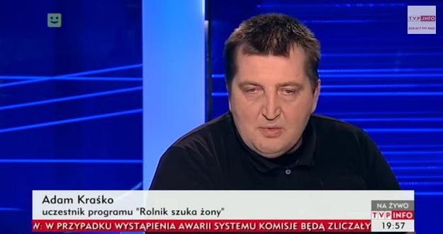 Adam Kraśko o programie po programie Rolnik Szuka Żony